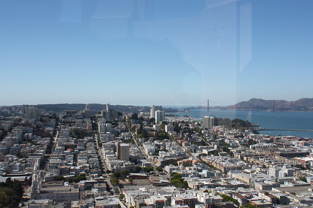 view from the Coit tower