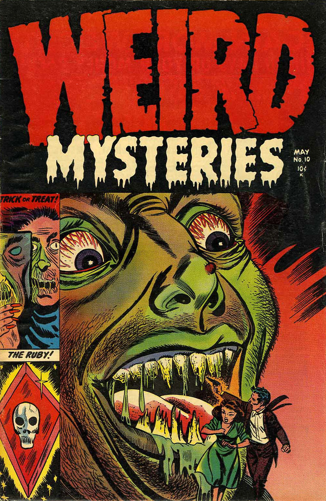 Weird Mysteries #10 Bernard Bailey Cover (Gillmor, 1954)