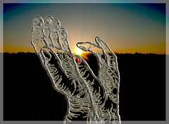 Pinch The Sun (Bill Pawlitzki) Tags: sunrise photo nikon flickr most ever stjacobs outing elora viewed 8800 abstractphotoshopedpinchthesunrise