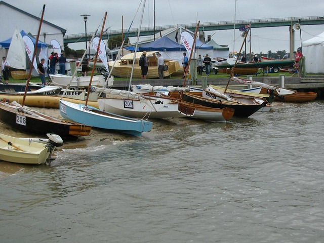 Sabre sailing dinghies, strip planked dingies and canoes, Mirror dinghies, Herons -