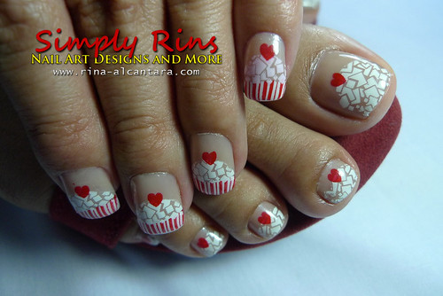 Cupcake Nail Art Using Konad 03