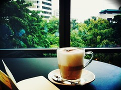 Cappuccino, JAMS Cafe, Prologue Bookshop, ION Orchard