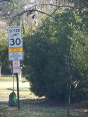 Speeding additional $200 fine, street sign, Cary Street, Richmond, Virginia