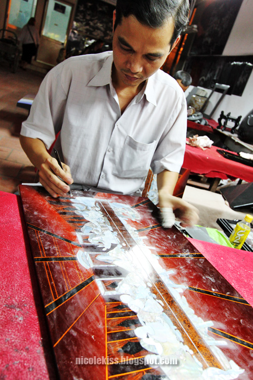carving shell painting