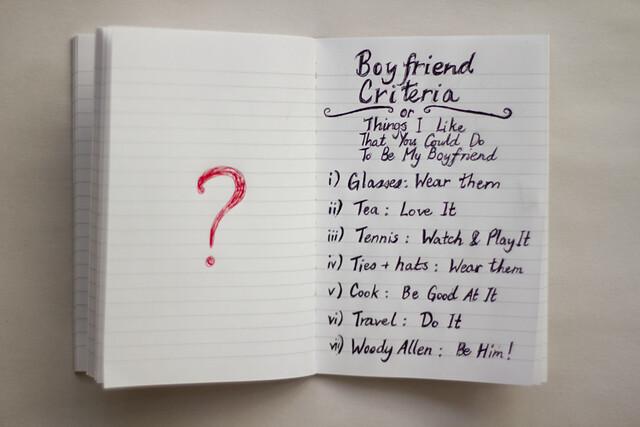 boyfriend criteria