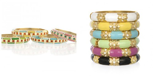 Sequin Enamel Bangles from Charm and Chain
