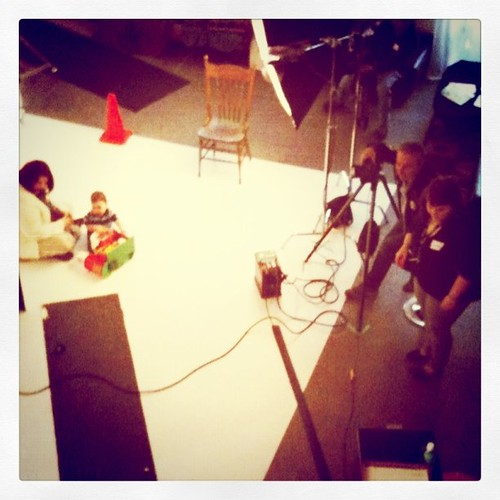 Aerial view of the #playpanel shoot for Fisher-Price. Fun!