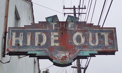 THE HIDE OUT ALAMEDA CALIF. (ussiwojima) Tags: sign bar advertising neon lounge cocktail alameda thehideout califirnia