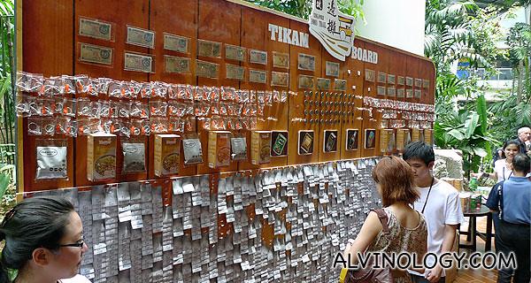 Tikam wall to win prizes