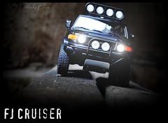 FJ Cruiser (tamahaji) Tags: black mod toyota baja fj plain cruiser matte 2007 118 diecast autoart