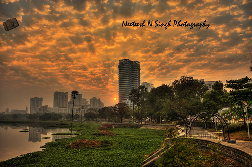 Sunrise over Powai Lake