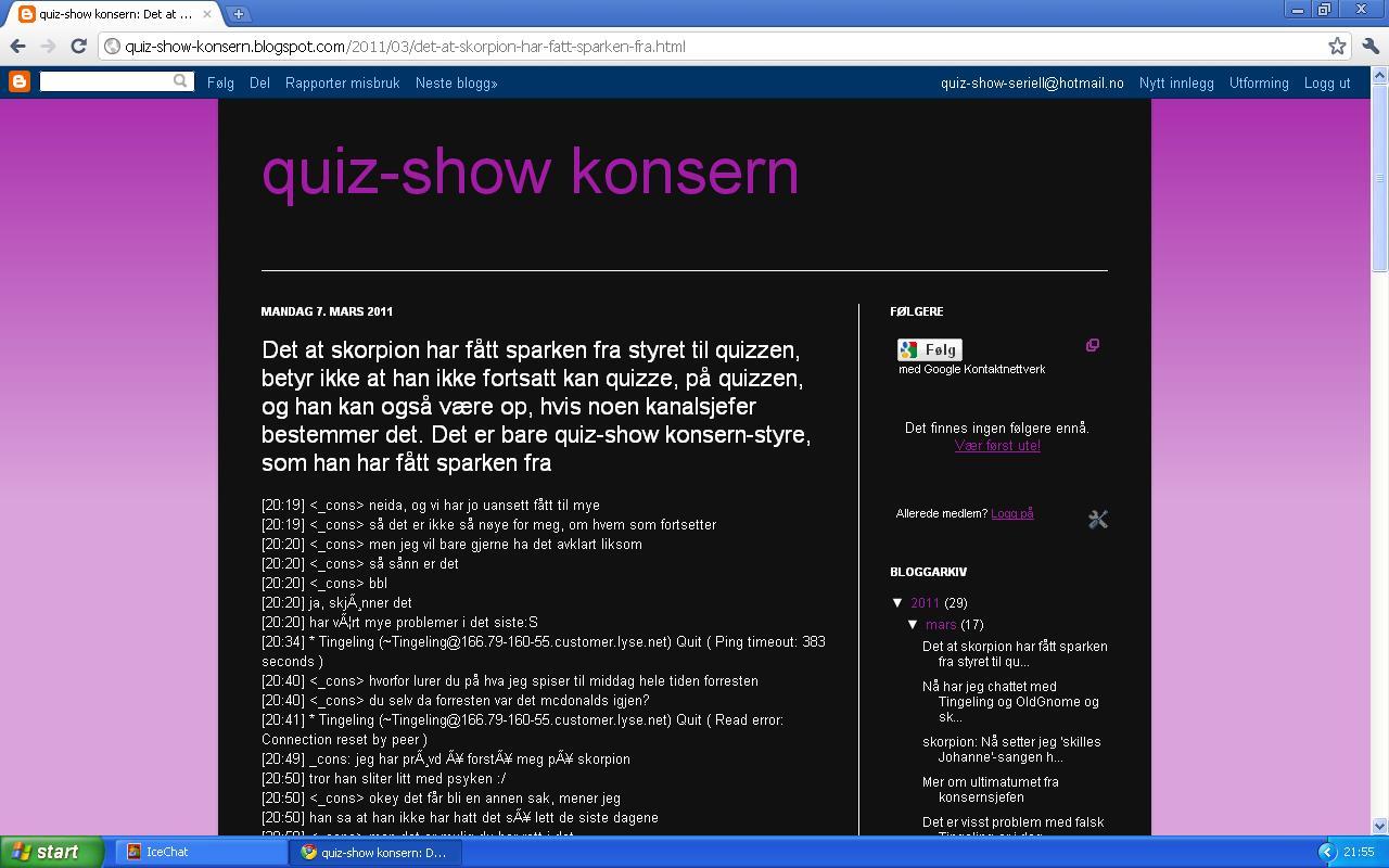skorpion velkommen til å quizze 1