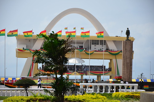 Ghanaian flags at Independence Square