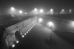 IMG_7430 (Andreas*D) Tags: light bw weather fog night timeexposure magdeburg 7d 2010 efs1022mmf3545usm frstenwall bastioncleve