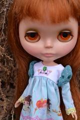 melisande (cybermelli) Tags: original red fish vintage hair toy doll dress princess boots market fringe redhead fabric kenner blythe bangs granny 1972 fishmarket takara chunky banged fishknees papelmouse