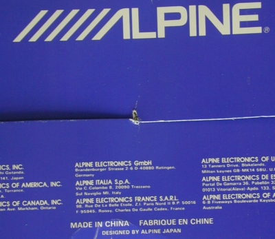 Alpine radio box
