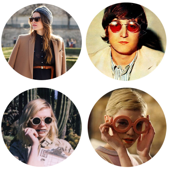 round sunglasses trend by Illesteva