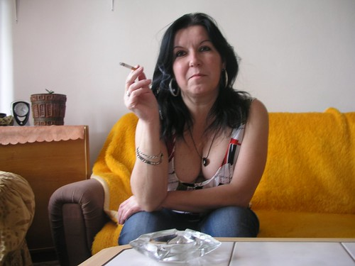 Girl mature smoking