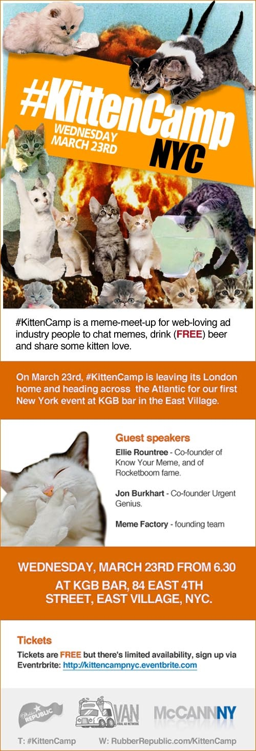 KittenCamp NYC poster