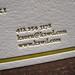 Kaoru Kawasaki Letterpress Business Cards