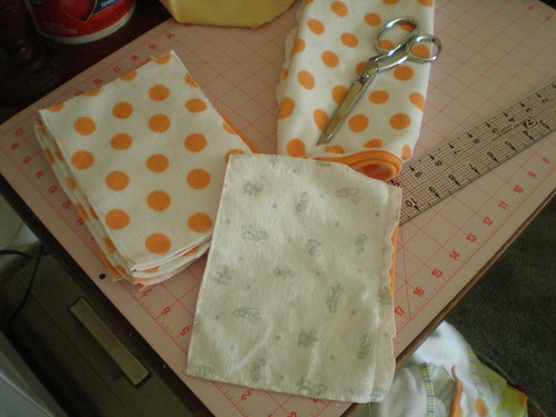 Making cloth baby wipes
