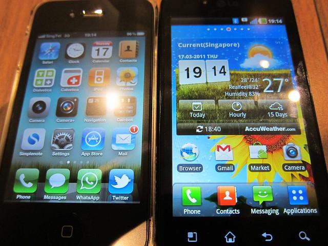 iPhone 4 vs LG Optimus Black