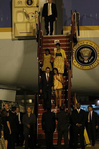 Família presidencial norte-americana chega ao Rio de Janeiro / U.S. presidential family arrives in Rio de Janeiro by Embaixada dos EUA - Brasil