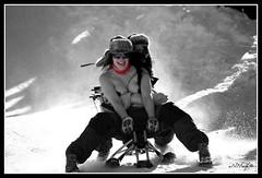 Topplosaking I (aNNajé) Tags: snow cold norway naked women little bare sneeuw topless lofoten vrouw koud noorwegen beetje rijden bloot sleetje topplosakin byzonderreizenno