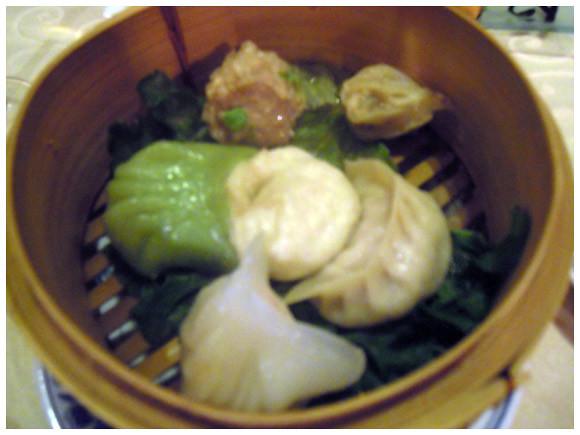 Steamed dumplings - Le Phenix restaurant, Geneva, Switzerland