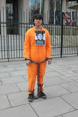 An actor posed as Bradley Manning in confinement