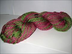 Sebastopol Raspberry Farm yarn skein