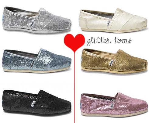 glitter toms bridesmaid