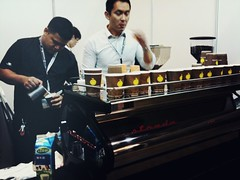 La Marzocco Strada, Oriole Coffee Roasters, Tea & Coffee World Cup Singapore 2011