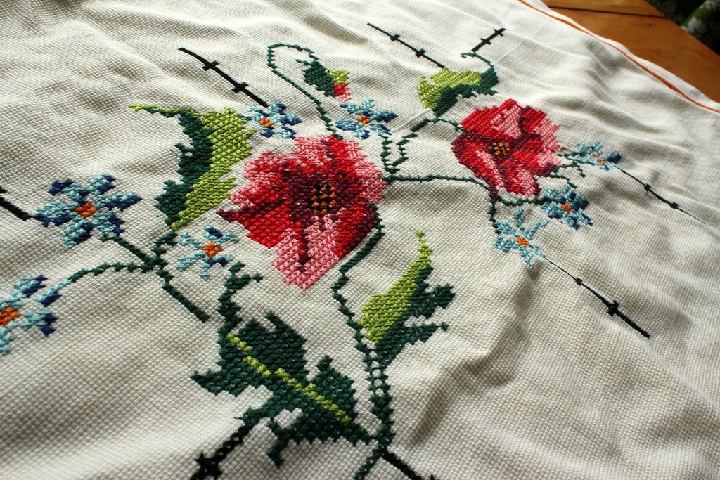 embroidered pillowcase about to restyled