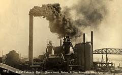 BHP Blast Furnace Department, Newcastle, NSW, Australia [n.d.] (Cultural Collections, University of Newcastle) Tags: industry newcastle smoke australia smokestack nsw boiler blastfurnace bhp furnance newcastleandhunterdistricthistoricalsociety blowerhouse orebridge a8803p1211
