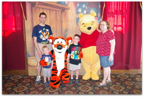 Meeting with Tigger and Pooh Bear