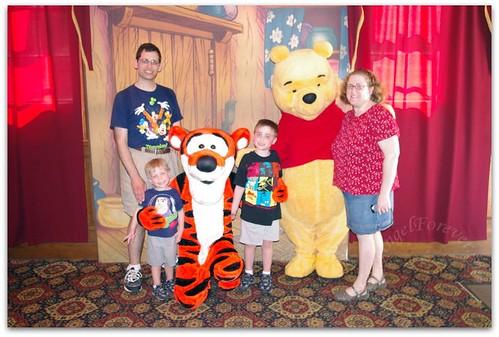 Meeting with Tigger and Pooh Bear