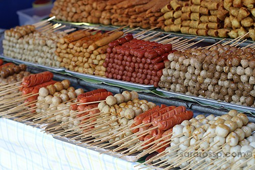 Many types of Satay, Street Food in Thailand
