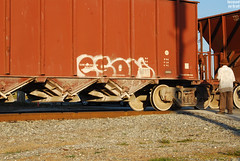 Eson (Stalkin The Lines) Tags: art cars car metal train graffiti moving paint florida steel railway trains spray traincar fl spraypaint graff msg hopper freight hollow rolling southflorida throwup traincars freights trainart railart eson benching benchingfreights benchingtrains focusedongraff