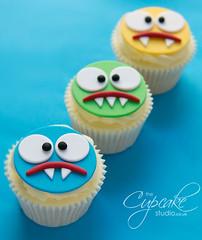 Monster Cupcakes! (The Cupcake Studio) Tags: birthday boy monster kids cupcake kidscake kidscupcake boycupcake