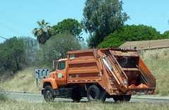Caltrans Garbage Truck (Photo Nut 2011) Tags: california trash truck garbage junk freeway refuse sanitation caltrans garbagetruck trashtruck wastedisposal