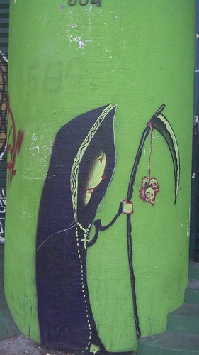 a painting of the grim reaper