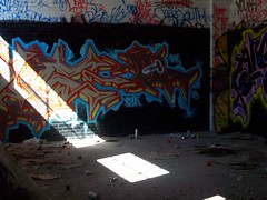 vision (Reckless Artist) Tags: building art abandoned minnesota graffiti midwest paint cities twin spray vision tc graff vis mn colddayfun