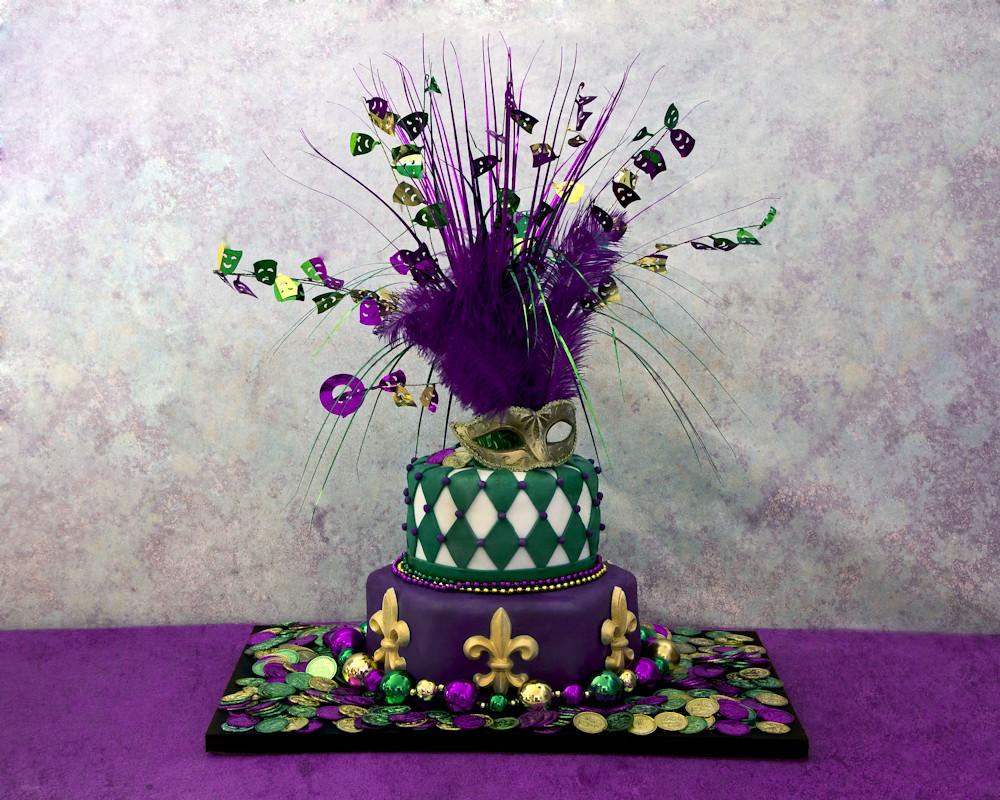 Mardi Gras Cake Creationsbyskip Tags Holiday Beads Mask Neworleans Fleurdelis February Mardigras
