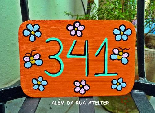 número residencial pintado à mão