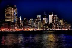 New York (Arutemu) Tags: city nyc newyorkcity ny newyork skyline night america canon landscape lights neon cityscape nightscape nightshot nighttime american citylights hudsonriver hudson nightview metropolitan hdr nuevayork  eos50d