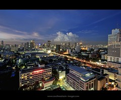 Urban Sprawl in the Blue Hour | Bangkok (I Prahin | www.southeastasia-images.com) Tags: sunset canon buildings thailand concrete raw skyscrapers suburban dusk bangkok metropolis suburbs bluehour 1022mm hailand sathornroad narathiwasroad gettyimagessoutheastasiaq1 chanroad