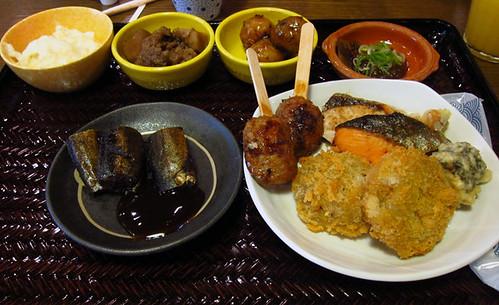 Breakfast at Ohan hotel Takayama