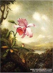 paintingselect.com_Heade_Hummingbird-Orchid-Sun-Breaking-Through-Clouds (Martin Johnson Heade Gallery) Tags: painting martin johnson canvas oil reproduction heade