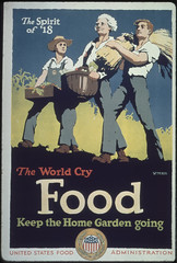 """Spirit of '18. The World Cry FOOD. Keep the home gardening going."", ca. 1917 - ca. 1919 (The U.S. National Archives) Tags: food garden poster worldwari nationalarchives whatscookingunclesam nara:arcid=512568"
